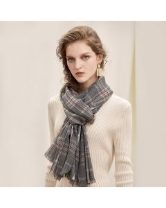 Corciova 100% Cashmere long Women shawl scarf scarf Plaid Pattern