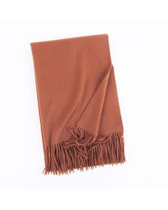 Corciova 100% Cashmere long Women shawl scarf scarves Solid Color tassel scarf