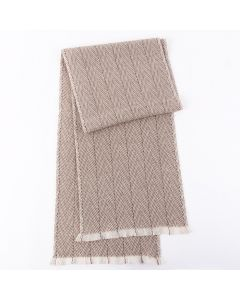 Corciova 100% Cashmere versatile long men's and women's scarf scarf Geometric Texture Pattern