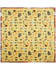 "Corciova 21"" Womens Small Square 100% Real Mulberry Silk Scarfs Neckscarf Animal Patterns"