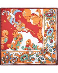 "Corciova 21"" Womens Small Square 100% Real Mulberry Silk Scarfs Neckscarf Phoenix Pattern"