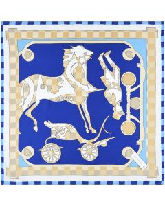Corciova 21 Inches Real Silk Neck Scarf Small Square Scarves Neckerchiefs Horse