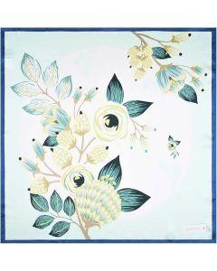 Corciova Women 100% Mulberry Silk Neck Scarf Small Square Scarves Neckerchiefs Flowers Design