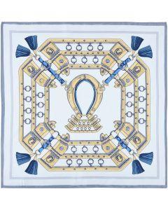 Corciova Women 100% Mulberry Silk Neck Scarf Small Square Scarves Neckerchiefs Rivet Bubbles