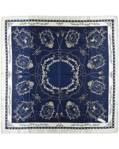 """Corciova 35"""" Large Women's Polyester Square Silk Feeling Hair Scarf Wrap Headscarf Flowers Chains Pattern"""