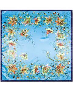"Corciova 35"" Large Women's Polyester Square Silk Feeling Hair Scarf Wrap Headscarf Flowers Pattern"