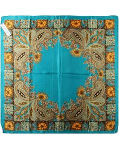 "35"" Ladies Polyester Square Silk Like Hair Scarves and Wraps Headscarf for Sleeping Totem Pattern"