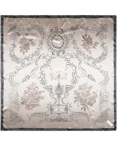 "Corciova 35"" Women Polyester Silk Feeling Hair Scarf for Sleeping Fortune Tree"