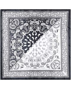 "Corciova 35"" Women Polyester Silk Feeling Hair Scarf for Sleeping Paisley Pattern"