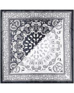 "Corciova 35"" Women Polyester Silk Feeling Hair Scarf for Sleeping Paisley Pattern"