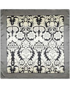 "35"" Ladies Polyester Square Silk Like Hair Scarves and Wraps Headscarf for Sleeping Friesian Pattern"