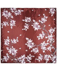 "35"" Women Silk Feeling 90 cm Square Hair Neck Sleeping Scarf Magnolia"