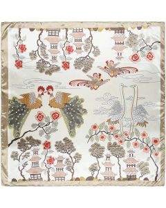 """35"""" Womens Square Silk Feeling Hair Scarves Headscarf for Sleeping Phoenix and Pine Pattern"""
