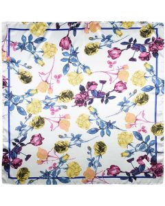 """35"""" Womens Square Silk Feeling Hair Scarves Headscarf for Sleeping Colorful Flowers"""