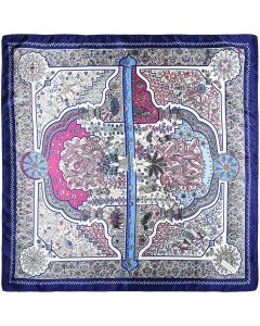 """35"""" Womens Square Silk Feeling Hair Scarves Headscarf for Sleeping Peacock Totem"""