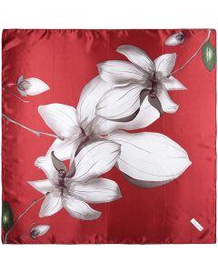 "35"" Womens Square Silk Feeling Hair Scarves Headscarf for Sleeping Lotus"