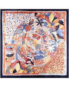 """35"""" Silk Feeling 90 cm Square Leaves Hair Sleeping Scarfs for Women"""