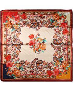 "Corciova 35"" Large Women's Polyester Square Silk Feeling Hair Scarf Wrap Headscarf Paisley Pattern"
