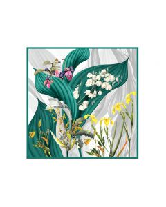 """Corciova 55"""" 12 Momme Satin 100% Real Mulberry Silk Square Women Scarfs Scarves Bell Orchid Patterns"""