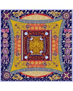 "Corciova 55"" 16 Momme Twill 100% Real Mulberry Silk Square Women Scarfs Scarves Flowers and Geometric Pattern"