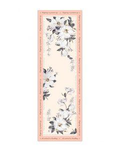 Corciova 12 Momme Satin 100% Real Mulberry Silk Long Women Scarfs Scarves White Kapok Pattern