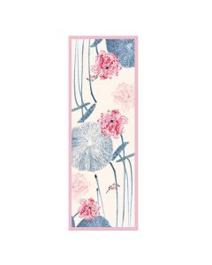 Corciova 12 Momme Double Layer Satin 100% Real Mulberry Silk Long Women Scarfs Scarves Lotus Leaf and Flower Pattern
