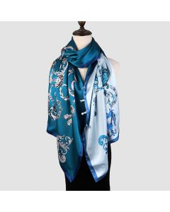 Corciova 12 Momme Double Layer Satin 100% Real Mulberry Silk Long Women Scarfs Scarves Jewelry Pattern