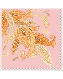 """Corciova 25"""" 12 Momme Satin 100% Real Mulberry Silk Square Women Scarfs Scarves Leaf Pattern"""