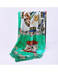 """Corciova 43"""" 16 Momme Satin 100% Real Mulberry Silk Square Women Scarfs Scarves Fashion Crown Design"""