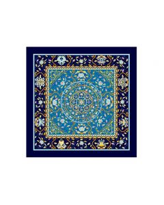 """Corciova 43"""" 16 Momme Satin 100% Real Mulberry Silk Square Women Scarfs Scarves Flowers and Geometric Pattern"""