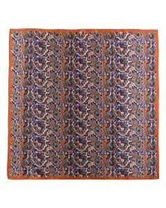 """Corciova 43"""" 16 Momme Satin 100% Real Mulberry Silk Square Women Scarfs Scarves Colorful Brocade Pattern"""