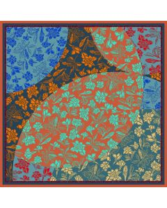 """Corciova 43"""" 16 Momme Satin 100% Real Mulberry Silk Square Women Scarfs Scarves Beautiful Flowers Pattern"""