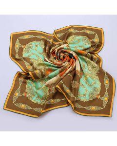"Corciova 12 Momme 35"" Large Women's 100% Real Silk Square Hair Scarf Wrap Headscarf fashion gem pattern"