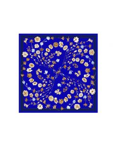 """Corciova 35"""" 14 Momme Twill 100% Real Mulberry Silk Square Women Scarfs Scarves Beautiful Flower Pattern"""