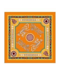 "Corciova 35"" 14 Momme Twill 100% Real Mulberry Silk Square Women Scarfs Scarves Chinese Fashion Dragon Pattern"