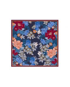 "Corciova 35"" 14 Momme Twill 100% Real Mulberry Silk Square Women Scarfs Scarves Unique Flower Pattern"