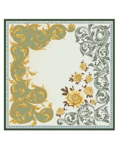 """Corciova 14 Momme 35"""" Large Women's 100% Real Silk Square Hair Scarf Wrap Headscarf Beautiful Flower Pattern"""