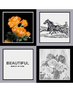 """Corciova 35"""" 14 Momme Twill 100% Real Mulberry Silk Square Women Scarfs Scarves Horses and Flowers Patterns"""