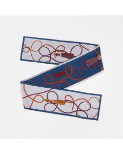 Corciova 12 Momme Twill 100% Real Mulberry Silk thin narrow long ribbon silk Women small Scarves Chain tasser Pattern