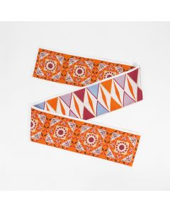 Corciova 12 Momme Twill 100% Real Mulberry Silk thin narrow long ribbon silk Women small Scarves Geometric Triangle Pattern
