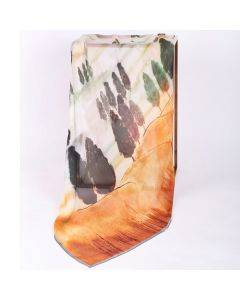 Corciova 6 Momme Chiffon 100% Real Mulberry Silk Long Women Scarfs Scarves Patterns Of Trees In The Desert