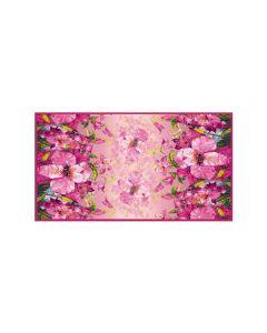 Corciova 6 Momme Chiffon 100% Real Mulberry Silk Long Women Scarfs Scarves Lovely Flower Pattern