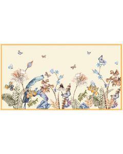 Corciova 6 Momme Chiffon 100% Real Mulberry Silk Long Women Scarfs Scarves Butterfly Love Flower Pattern