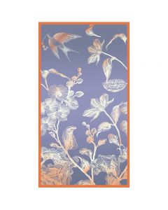 Corciova 6 Momme Chiffon 100% Real Mulberry Silk Long Women Scarfs Scarves Swallow and Flowers Pattern