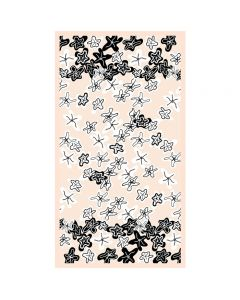 Corciova 6 Momme Chiffon 100% Real Mulberry Silk Long Women Scarfs Scarves Starfish Pattern