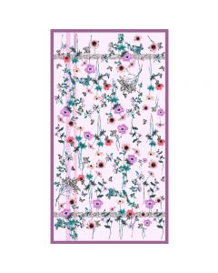 Corciova 6 Momme Chiffon 100% Real Mulberry Silk Long Women Scarfs Scarves Flowers and Birds Pattern