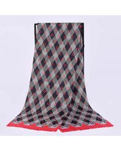 Corciova 12 Momme Twill 100% Real Mulberry Silk Long Men Scarfs Scarves British Glenn Dot Pattern