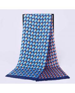 Corciova 12 Momme Twill 100% Real Mulberry Silk Long Men Scarfs Scarves Rectangular Grid Pattern