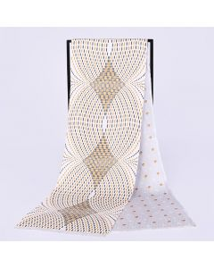 Corciova 12 Momme Twill 100% Real Mulberry Silk Long Men Scarfs Scarves Wave Point Pattern