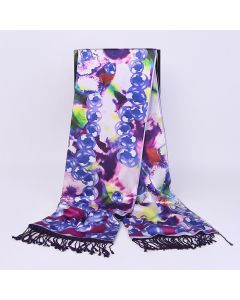 Corciova 16 Momme Double Layer Satin 100% Real Mulberry Silk Long Women Scarfs Scarves Bubble Pattern